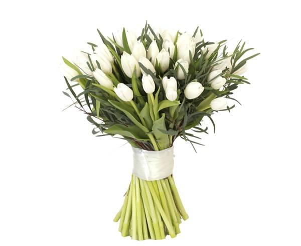 НежныйТюльпаны<br>Главное послание букета заключается в самом названии. Это нежные белые<br>тюльпаны, идеальный вариант для подарка близким и дорогим сердцу друзьям<br>либо приятной девушке. Белые тюльпаны отлично подойдут для свадьбы, так<br>как это торжество чистоты чувств. Оформление композиции выбрано<br>подобающе: оно милое, ненавязчивое и в минималистичном стиле. Запах<br>цветов оставляет приятный след в душе каждого.<br>